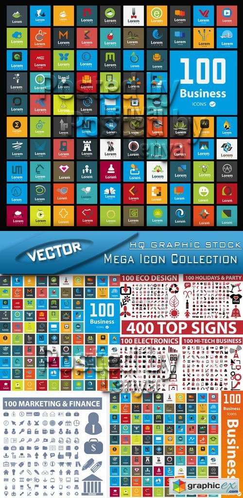 Stock Vector - Mega Icon Collection vector