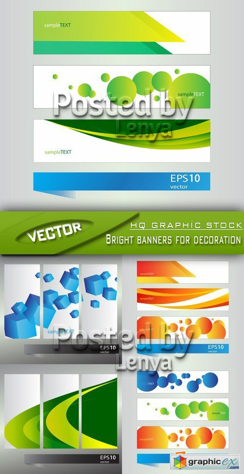 Stock Vector - Bright banners for decoration