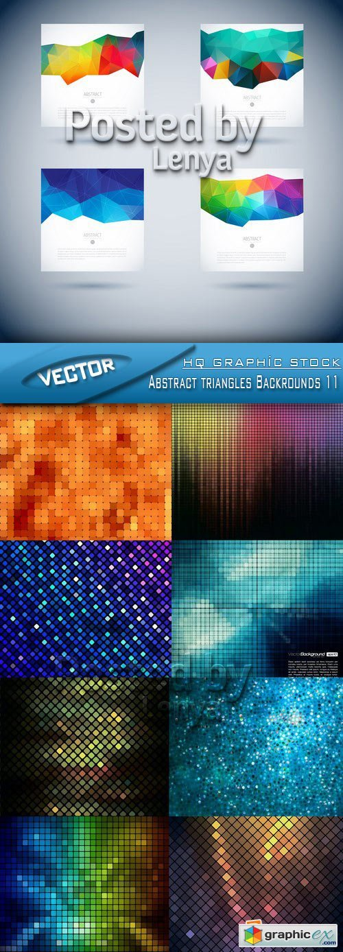 Stock Vector - Abstract triangles Backrounds 11