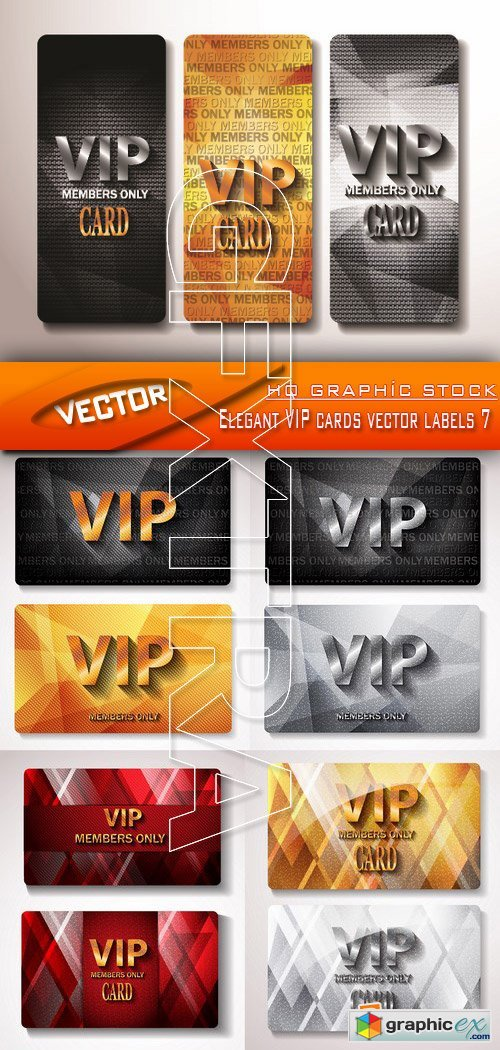 Stock Vector - Elegant VIP cards vector labels 7