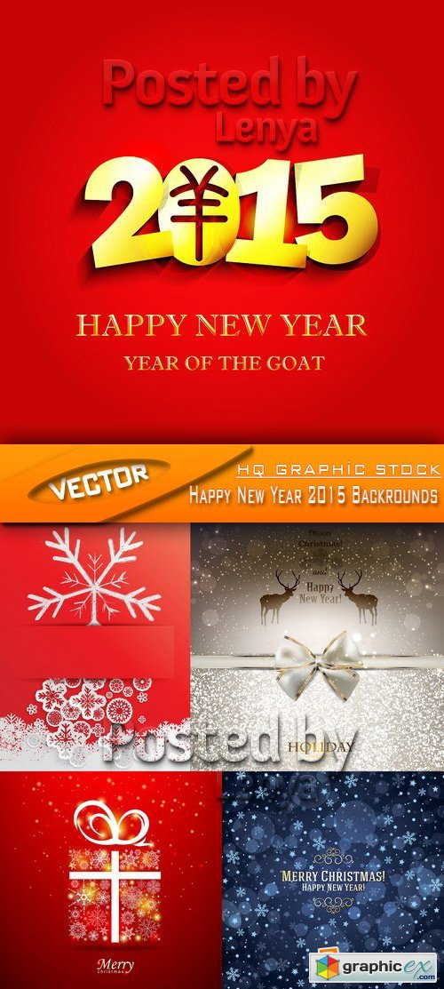 Stock Vector - Happy New Year 2015 Backrounds