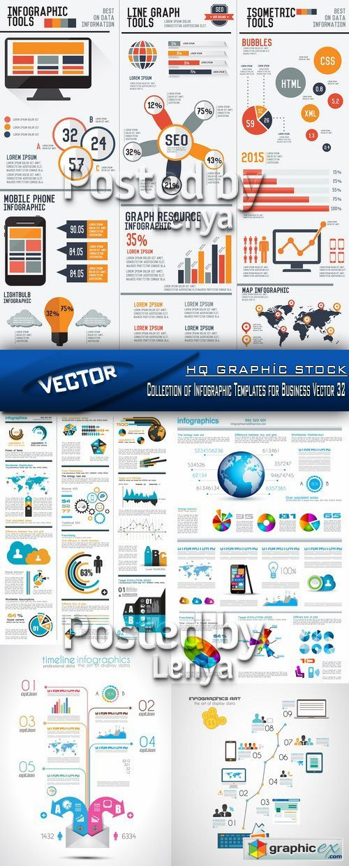 Stock Vector - Collection of Infographic Templates for Business Vector 32
