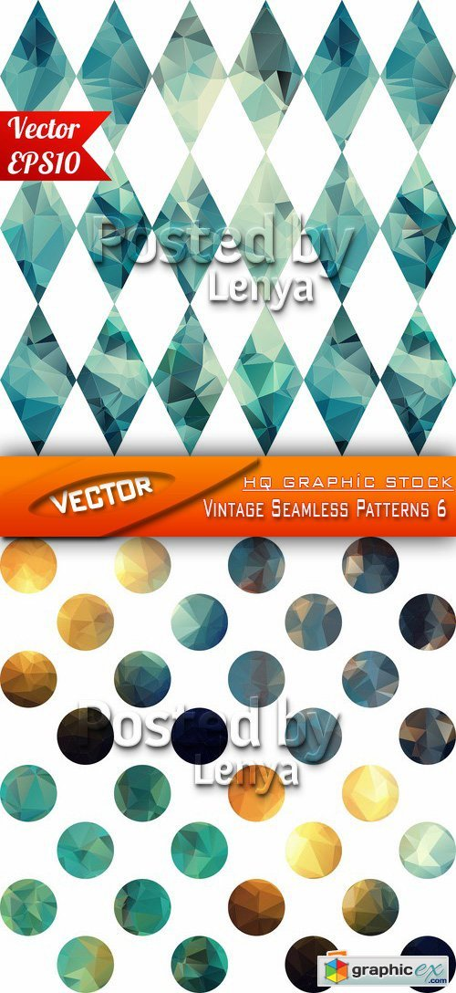 Stock Vector - Vintage Seamless Patterns 6