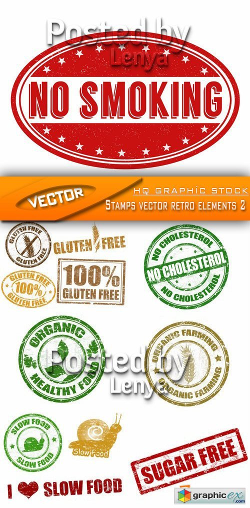 Stock Vector - Stamps vector retro elements 2