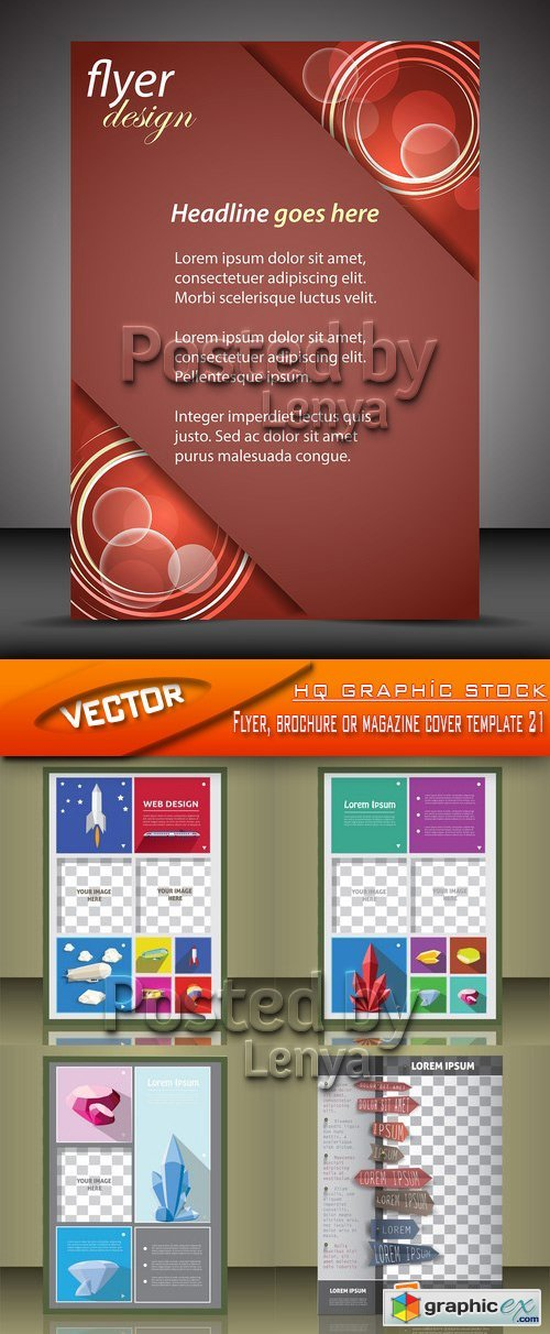 Stock Vector - Flyer, brochure or magazine cover template 21