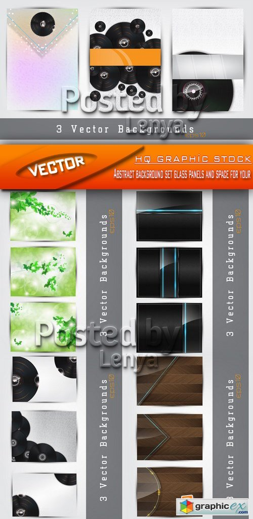 Stock Vector - Abstract background set glass panels and space for your