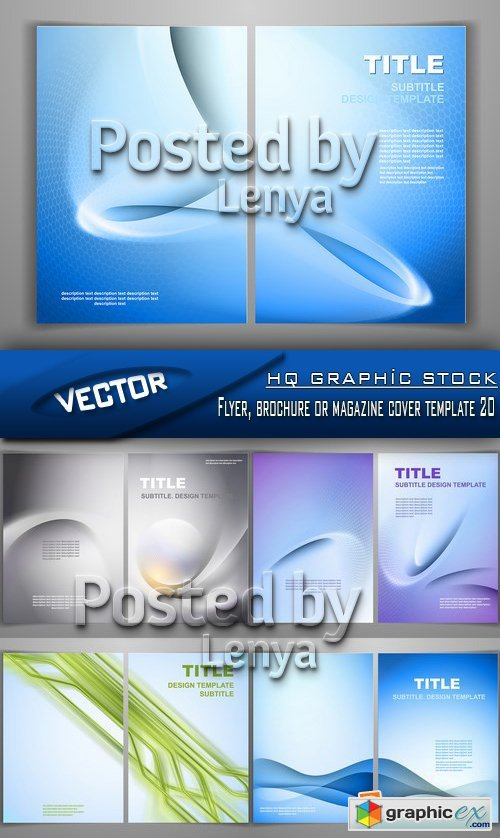 Stock Vector - Flyer, brochure or magazine cover template 20