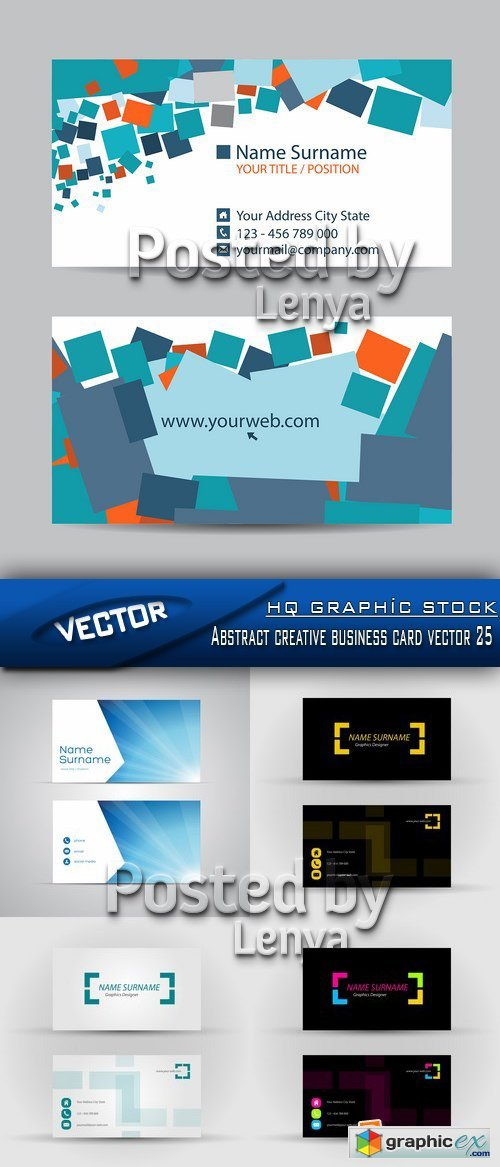 Stock Vector - Abstract creative business card vector 25