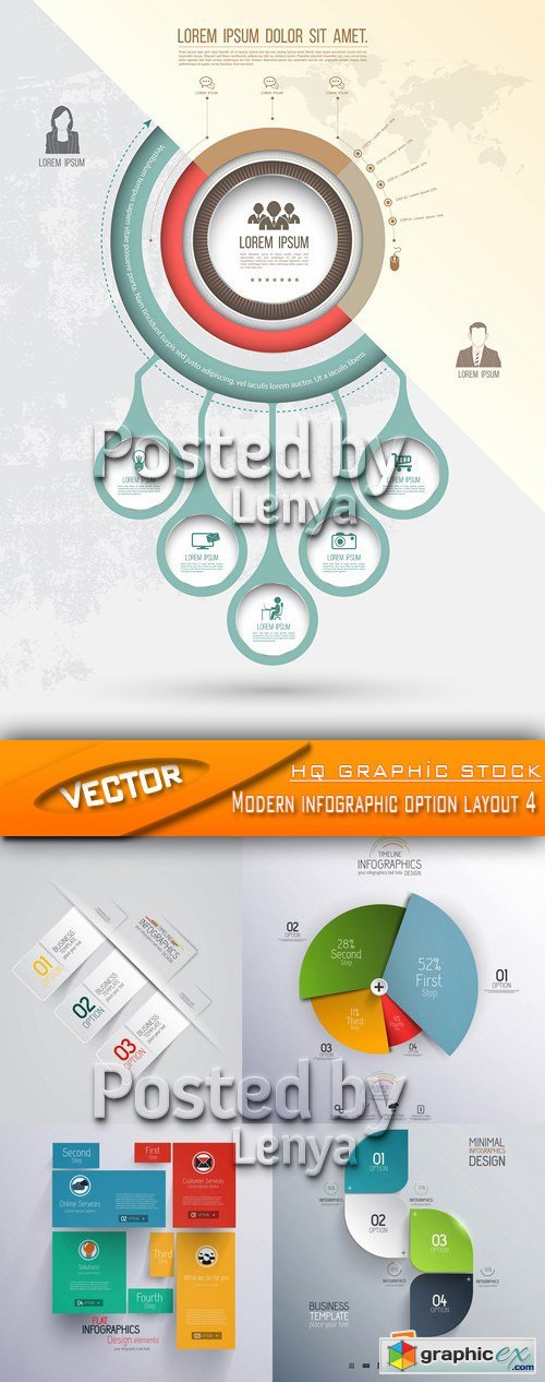 Stock Vector - Modern infographic option layout 4