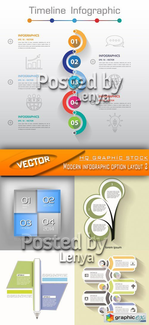 Stock Vector - Modern infographic option layout 2