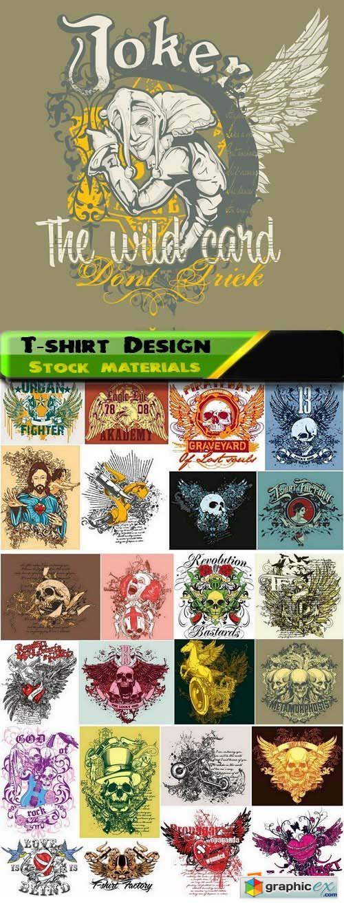 T-shirt Design elements in vector from stock 28 25xEPS