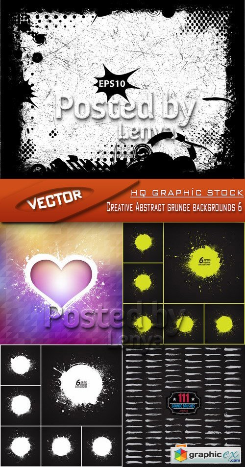Stock Vector - Creative Abstract grunge backgrounds 6