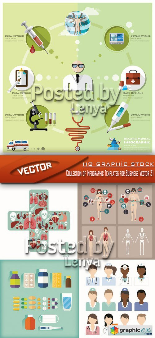 Stock Vector - Collection of Infographic Templates for Business Vector 31