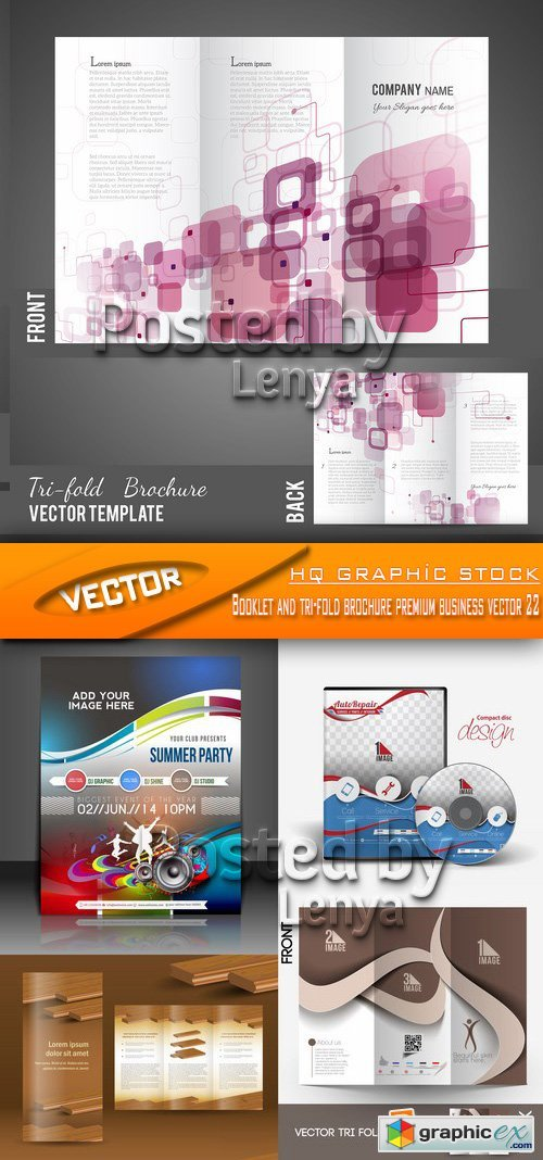 Stock Vector - Booklet and tri-fold brochure premiumm business vector 22