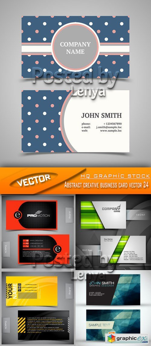Stock Vector - Abstract creative business card vector 24