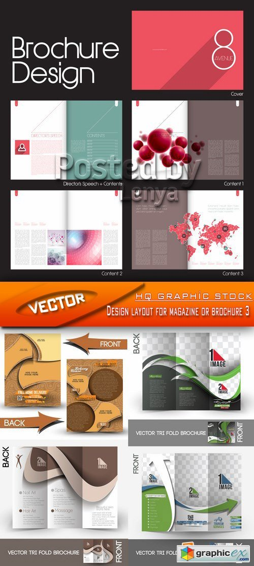 Stock Vector - Design layout for magazine or brochure 3