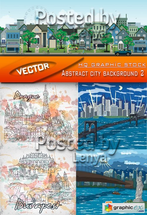 Stock Vector - Abstract city background 2