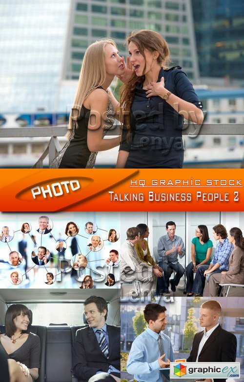 Stock Photo - Talking Business People 2