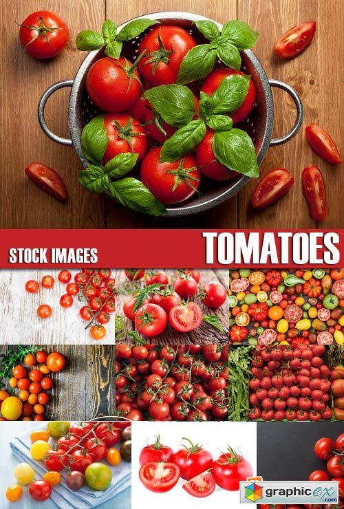 Stock Photos - Tomatoes, 25xJPG