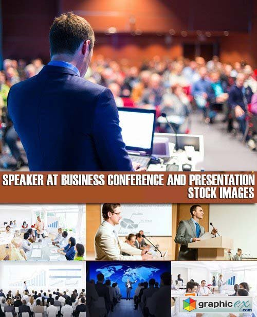 Stock Photos - Speaker at Business Conference and Presentation, 25xJPG