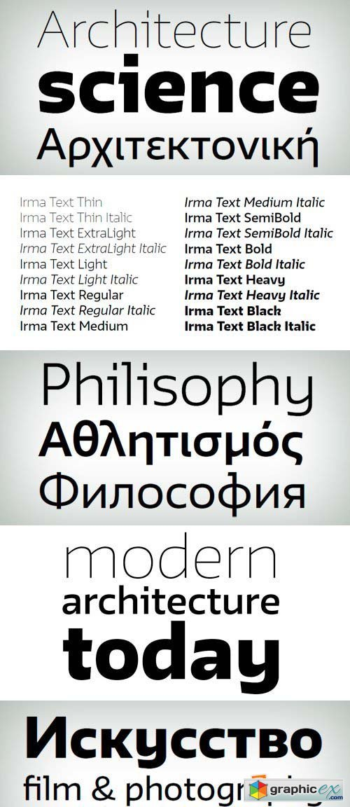 Irma Text Font Family - 18 Fonts for €560