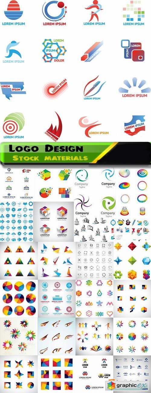 Logo Design in vector Set from stock 25 25xEPS