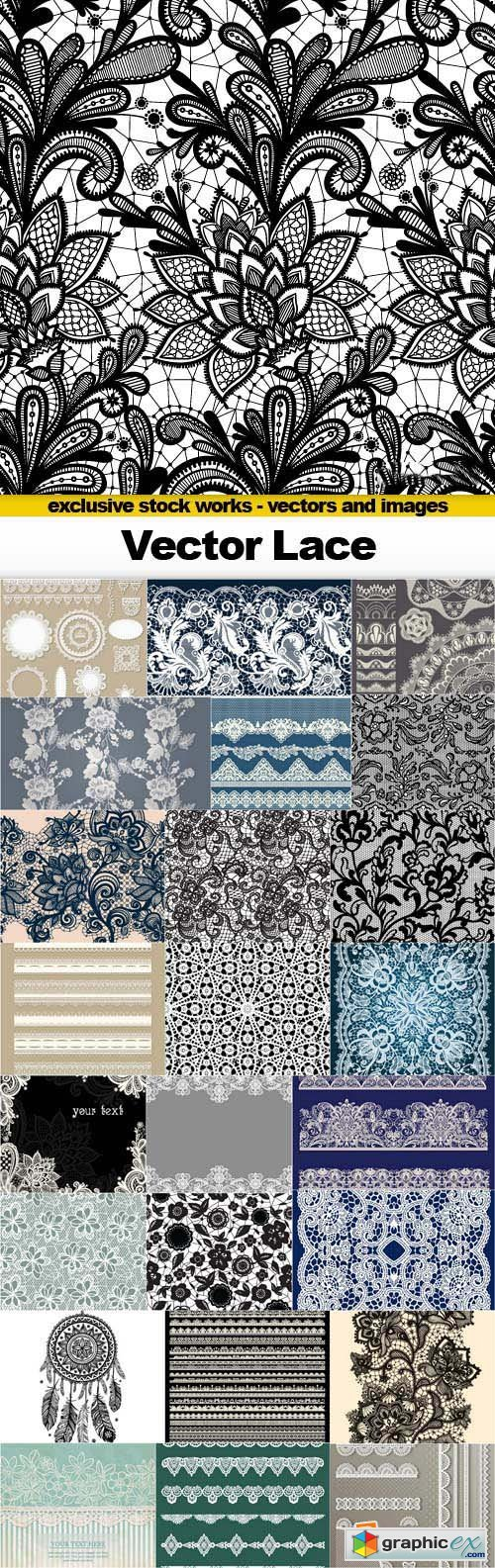 Vector Lace - 25x EPS