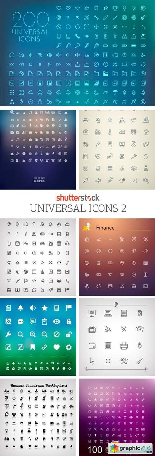 Amazing SS - Universal Icons 2, 25xEPS