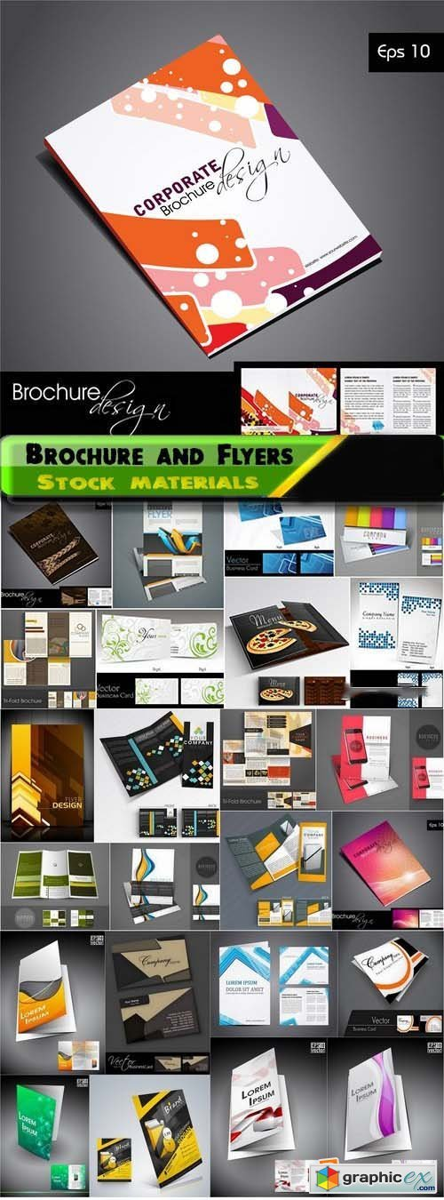 Brochure and Flyers Template Design in vector from stock 11 25xEPS