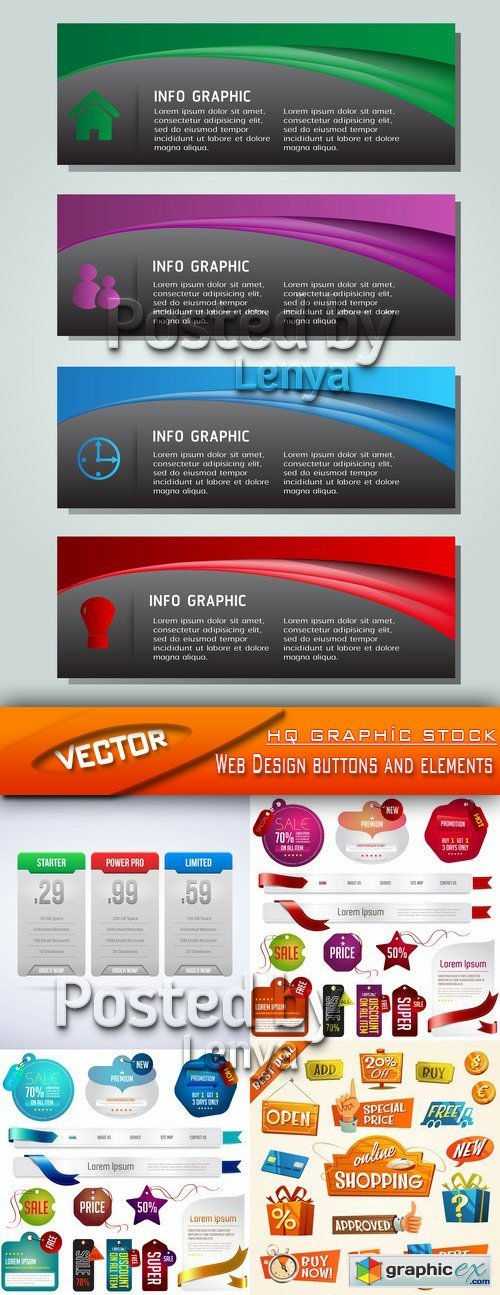 Stock Vector - Web Design buttons and elements