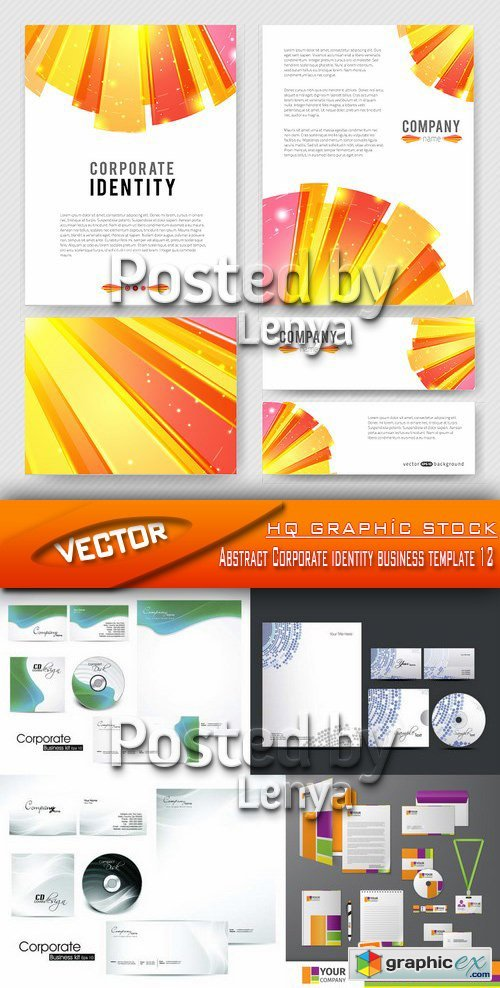 Stock Vector - Abstract Corporate identity business template 12