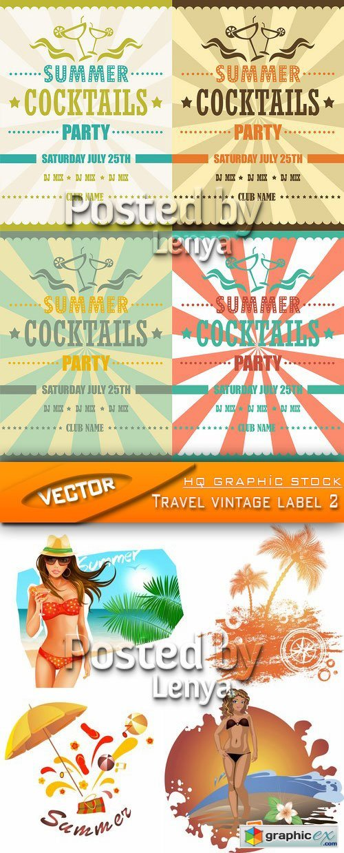 Stock Vector - Travel vintage label 2
