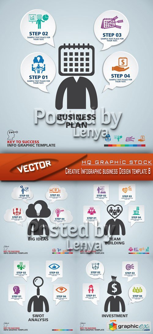 Stock Vector - Creative Infographic business Design template 8