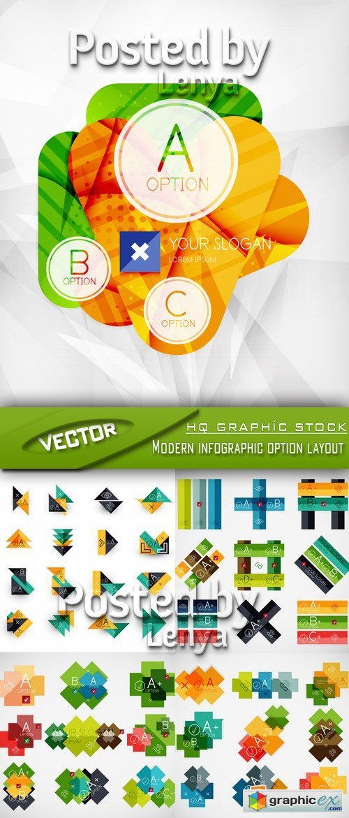 Stock Vector - Modern infographic option layout