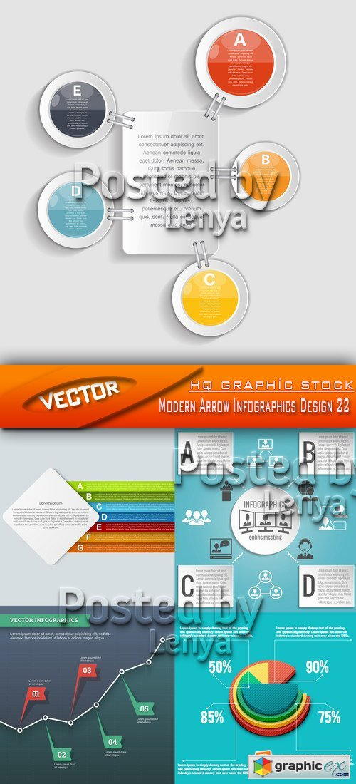 Stock Vector - Modern Arrow Infographics Design 22