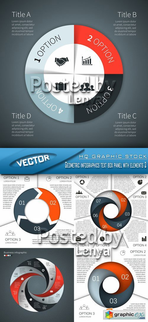 Stock Vector - Geometric infographics text box panel with elements 2