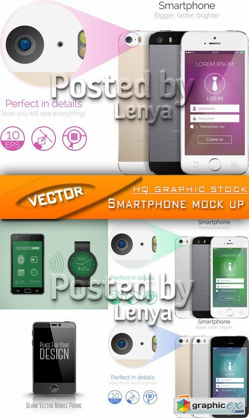Stock Vector - Smartphone mock up