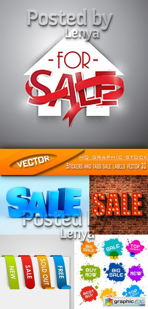 Stock Vector - Stickers and tags sale labels vector 20