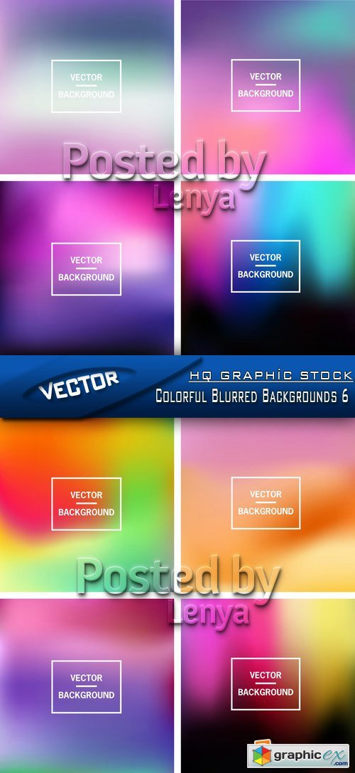 Stock Vector - Colorful Blurred Backgrounds 6