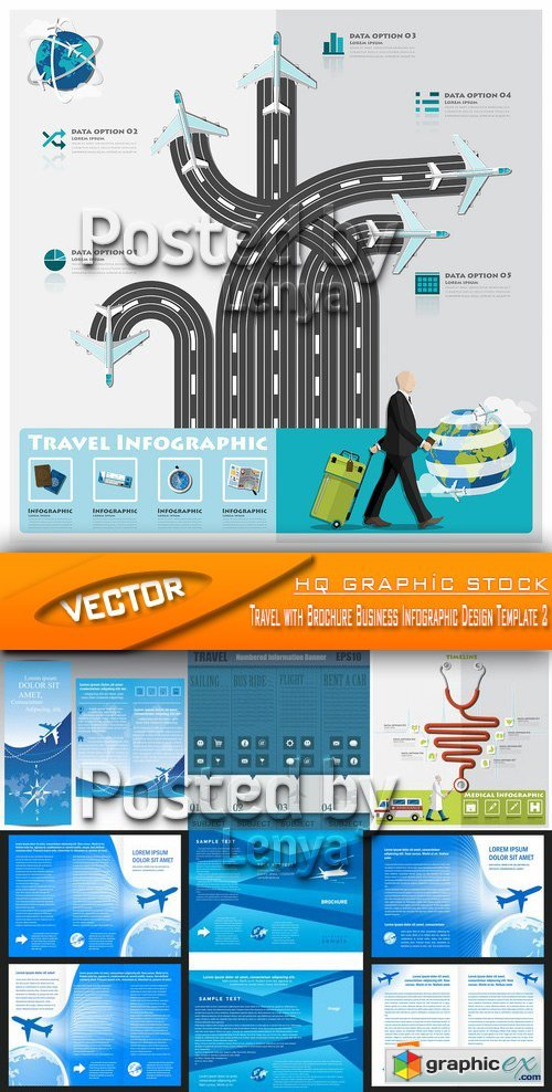 Stock Vector - Travel with Brochure Business Infographic Design Template 2