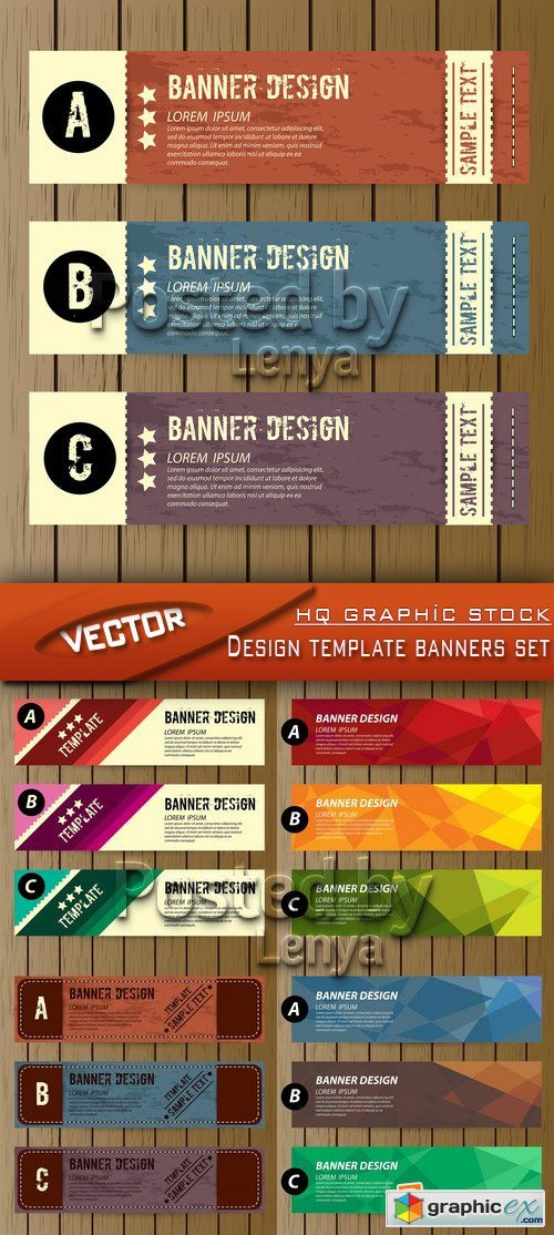 Stock Vector - Design template banners set