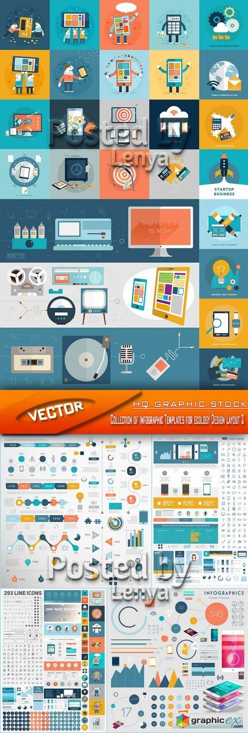 Stock Vector - Collection of Infographic Templates for ecology Design Layout 2