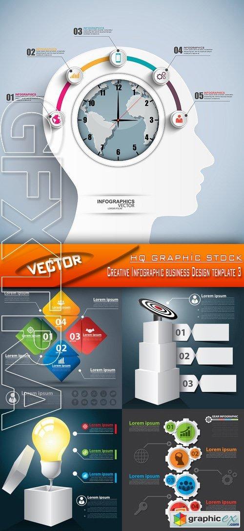 Stock Vector - Creative Infographic business Design template 3