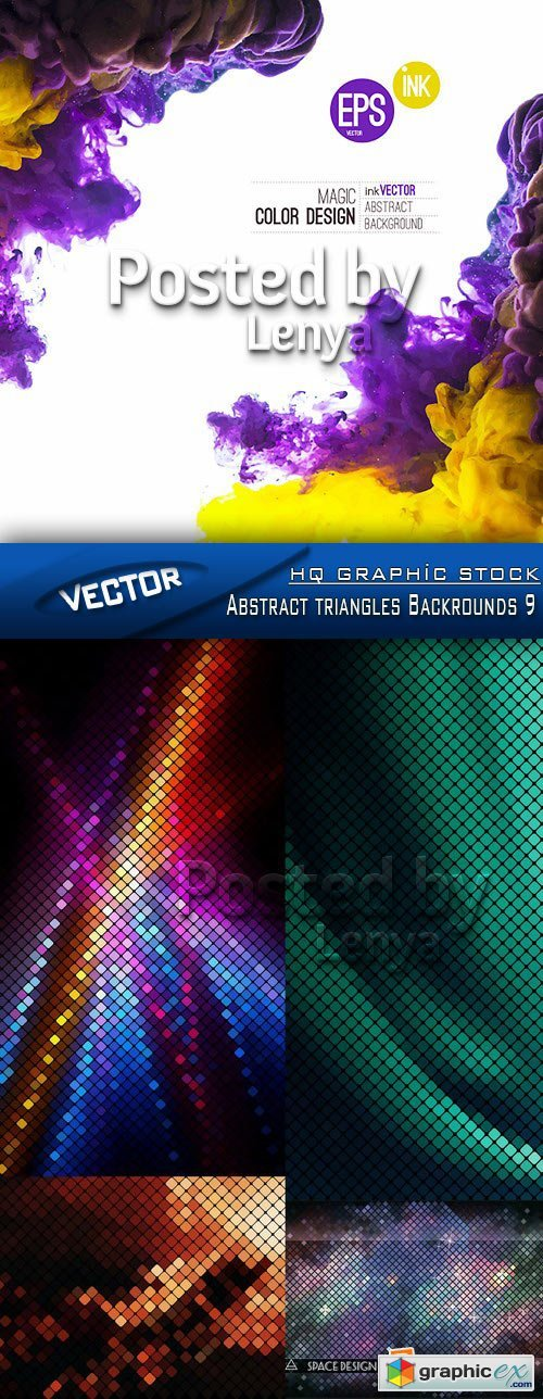Stock Vector - Abstract triangles Backrounds 9