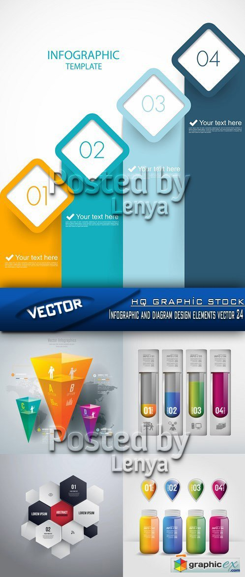 Stock Vector - Infographic and diagram design elements vector 24