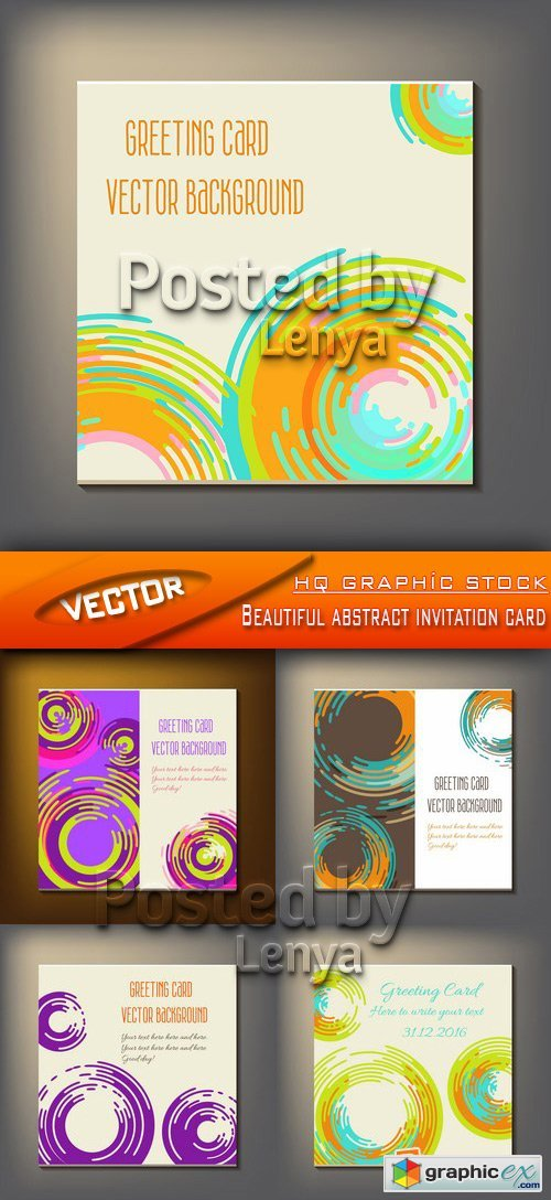 Stock Vector - Beautiful abstract invitation card