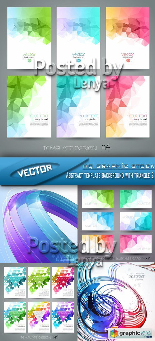 Stock Vector - Abstract template background with triangle 2