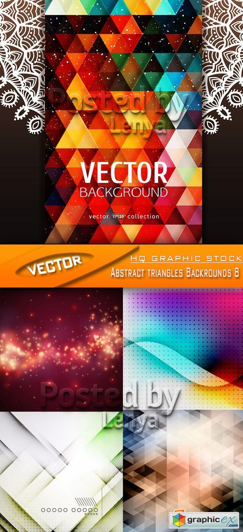 Stock Vector - Abstract triangles Backrounds 8