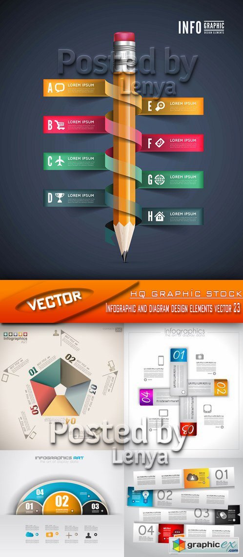 Stock Vector - Infographic and diagram design elements vector 23