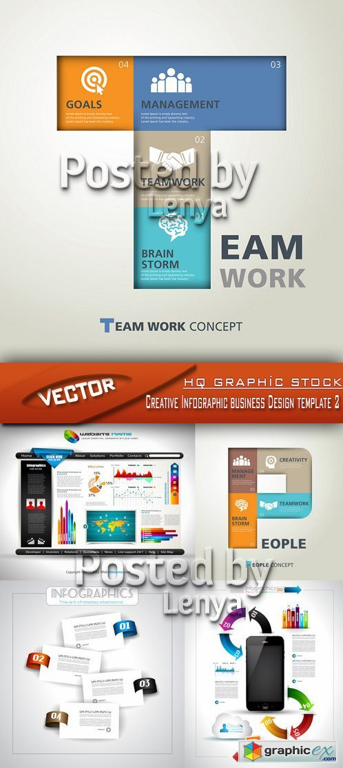 Stock Vector - Creative Infographic business Design template 2